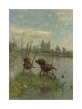 Ducks' Nests, by Paul Joseph Constantin Gabriel, C. 1890-1900 Giclee Print by Paul Joseph Constantin Gabriel