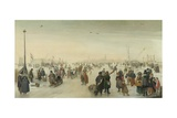 Enjoying the Ice Near a Town, C. 1620 Giclee Print by Hendrick Avercamp