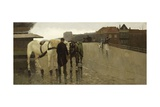 Wagon Bridge in the Hague, 1885-95 Giclee Print by Willem de Zwart