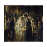 Jewish Wedding, 1903 Giclee Print by Jozef Israels