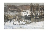 Oosterpark, Amsterdam, in the Snow, 1892 Giclee Print by George Hendrik Breitner