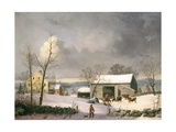 Winter in the Country, 1858 Giclee Print by George Henry Durrie