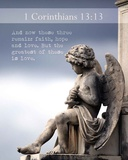 1 Corinthians 13:13 Faith, Hope and Love (Statue) Posters by  Inspire Me