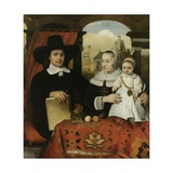 Family of Willem Van Der Helm, Municipal Architect, Leiden, 1656 Giclee Print by Barent Fabritius