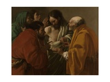 The Incredulity of Thomas, 1522 Giclee Print by Hendrick Ter Brugghen