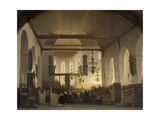 A Service in the Geertekerk, Utrecht, 1852 Giclee Print by Johannes Bosboom