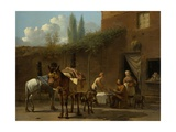 Muleteers at an Inn, 1658-60 Giclee Print by Karel Dujardin