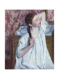 Girl Arranging Her Hair, 1886 Giclee Print by Mary Cassatt