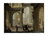Iconoclasm in a Church, 1630 Giclee Print by Dirck Van Delen