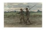 Mowers, C 1860-1910 Giclee Print by Jozef Israels