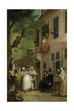 Misled: the Ambassador of the Rascals Exposes Himself from the Window, 1739-50 Giclee Print by Cornelis Troost