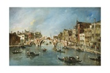 Cannaregio Canal, Venice, C. 1775-80 Giclee Print by Francesco Guardi