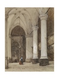 Southern Aisle of the Great Church at the Hague, C. 1850-80 Giclee Print by Johannes Bosboom