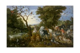 The Entry of the Animals into Noah's Ark, 1613 Giclee Print by Jan Brueghel the Elder