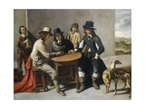 Dice Players (The Gamblers), 1630-80 Giclee Print by Mathieu Le Nain