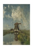 A Windmill on a Polder Waterway, C. 1889 Giclee Print by Paul Joseph Constantin Gabriel