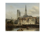 The Quay De Paris in Rouen, 1839 Giclee Print by Johannes Bosboom