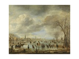 River View in Winter, 1655-60 Giclee Print by Aert van der Neer
