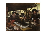 New Fish Market in Amsterdam, 1655-92 Giclee Print by Emanuel de Witte
