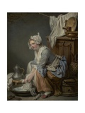 The Laundress, 1761 Giclee Print by Jean-Baptiste Greuze