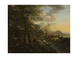 Italian Landscape with a Draughtsman, 1650-52 Giclee Print by Jan Both