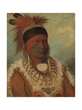 The White Cloud, Head Chief of the Ioways, 1844-45 Giclee Print by George Catlin