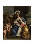 Margarita Trip as Minerva, Instructing Her Sister Anna Maria Trip, 1663 Lámina giclée por Ferdinand Bol