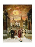 Pseudo-Dionysius the Areopagite Converting the Pagan Philosophers, C. 1570 Giclee Print by Antoine Caron