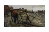 Building Site, C. 1900 Giclee Print by George Hendrik Breitner