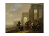 Street Scene Placed Among Roman Ruins, 1640-52 Giclee Print by Jan Both