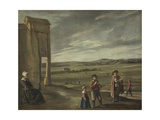 Landscape with Peasants, 1640 Giclee Print by Louis Le Nain