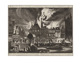 The Fire in the Old Town Hall in Amsterdam, 1652 Giclee Print by Jan Van Der Heyden