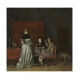 Gallant Conversation, 1654 Giclee Print by Gerard ter Borch