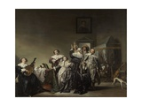 Gallant Company, 1633 Giclee Print by Pieter Codde