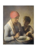 The Meal, C. 1850-92 Giclee Print by Auguste Boulard