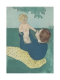 Under the Horse-Chestnut Tree, 1895 Giclee Print by Mary Cassatt
