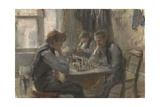 The Chess Players, 1875-1922 Giclee Print by Isaac Israels