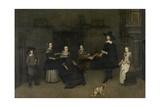 Family Scene, Attributed to Caspar Netscher, 1649-84 Giclee Print by Caspar Netscher