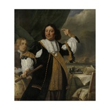 Aert Van Nes, Dutch Vice Admiral and Ludolf Bakhuyse, C. 1668 Giclee Print by Bartholomeus Van Der Helst