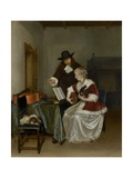 The Music Lesson, 1668 Giclee Print by Gerard ter Borch
