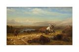 The Last of the Buffalo, 1888 Giclee Print by Albert Bierstadt