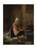 The Waffle Baker, C. 1850-82 Giclee Print by Alexander Hugo Bakker Korff