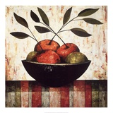 Fruit Bowl on Silk Posters by Constance Bachmann