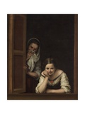 Two Women at a Window, 1655-60 Giclee Print by Bartolomé Esteban Murillo