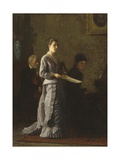 Singing a Pathetic Song, 1881 Giclee Print by Thomas Eakins
