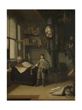 Young Man in a Study, 1640-50 Giclee Print by Adriaen van Gaesbeeck