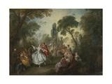 La Camargo Dancing, 1730 Giclee Print by Nicolas Lancret