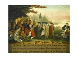 Penn's Treaty with the Indians, 1840-44 Giclee Print by Edward Hicks