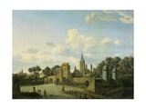 St. Severin, Cologne, in Imaginary Cityscape, 1660-77 Giclee Print by Jan Van Der Heyden