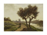 Landscape with Two Trees, 1860-67 Giclee Print by Paul Joseph Constantin Gabriel